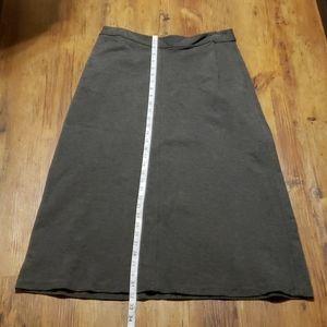 J jill stretch grey soft long warm skirt classic